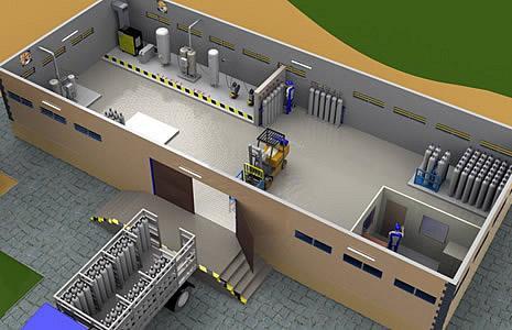 Весь завод, включая здание, был сконструирован Oxywise