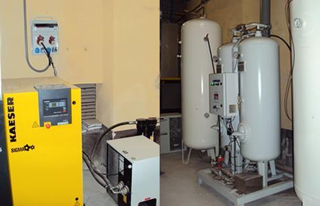 Генератор инертного газа производит азот