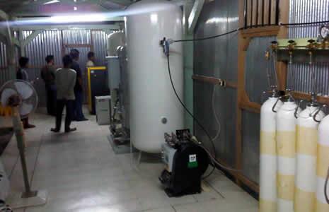Рампа высокого давления для наполнения баллонов кислородом