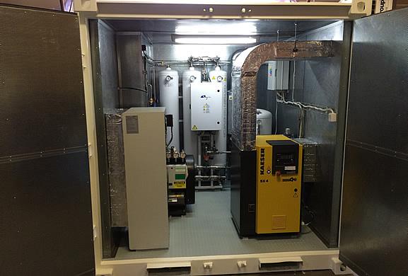 Система изолирована и оборудована вентиляцией и системой кондиционирования воздуха