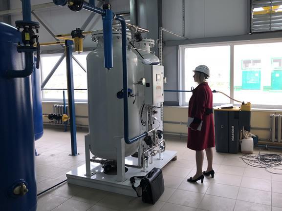 Углеродная башня Oxywise интегрирована в систему подачи воздуха