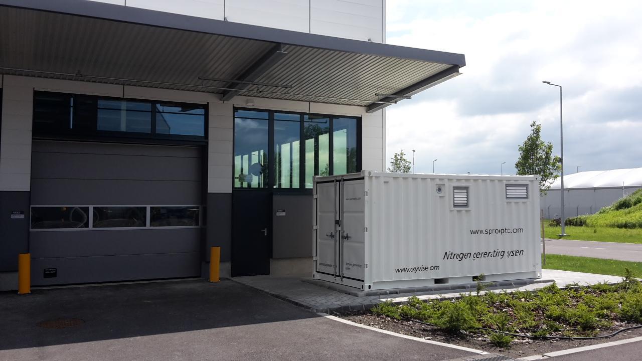 азотный генератор с низким потреблением энергии на базе в Венгрии