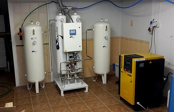 блок генерации азота для селективной пайки