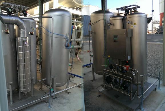 генератор азота на открытой площадке