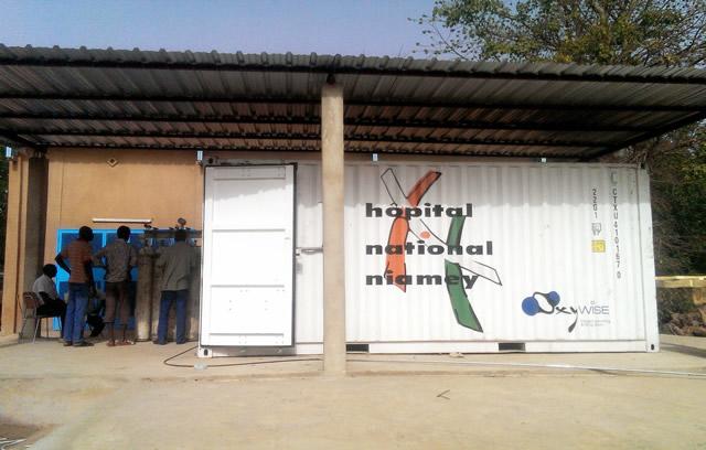 портативная станция по заправке кислородом для национального госпиталя в Ниамее