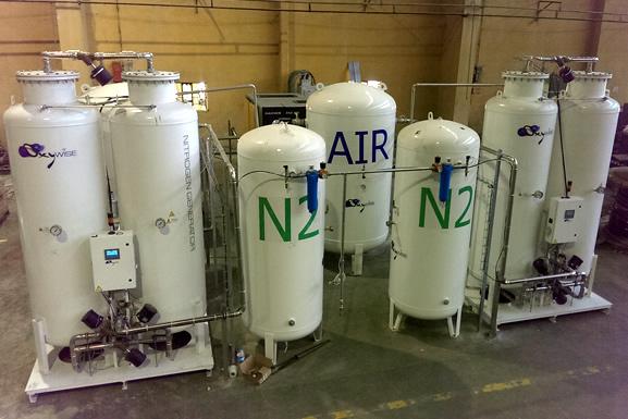 система генерации азота высокой степени чистоты