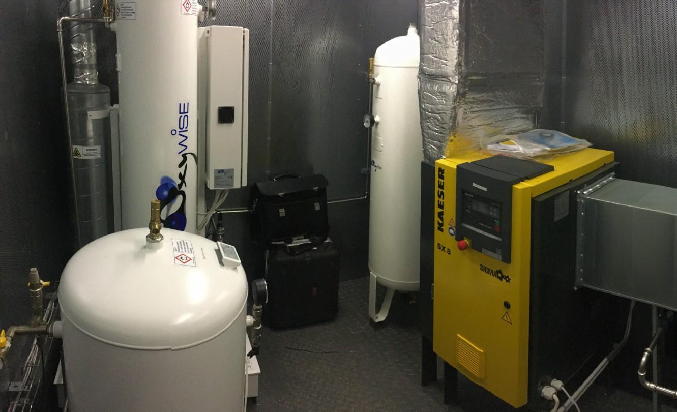 система установки кислорода